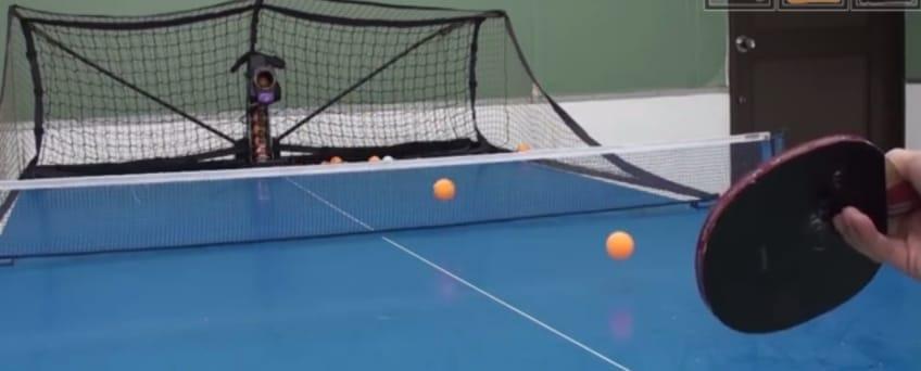 Newgy Robo-Pong 2050 Table Tennis Robot In Action