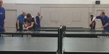 Table tennis club - close shot