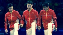 Chinese Ping Pong Team in Rio Olympics