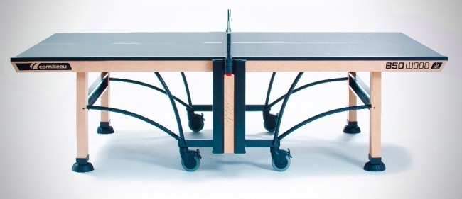 Cornilleau 850 Wood Indoor Table Tennis Table Side View